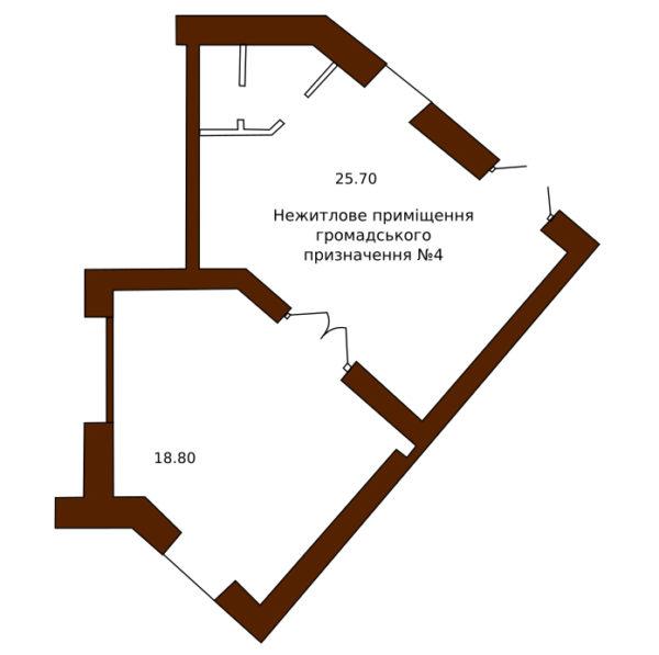 Приміщення на Боровиковського 2/4 в Полтаві-Новобуд 2004 Гарант